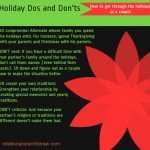 Dos and Don'ts: Make it Through the Holidays Together
