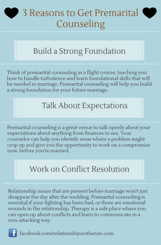 reasons to get premarital counseling