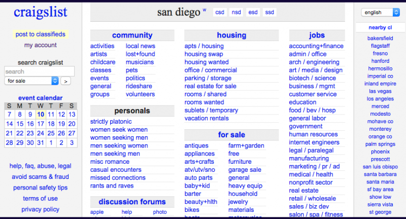 craigslist dating san diego