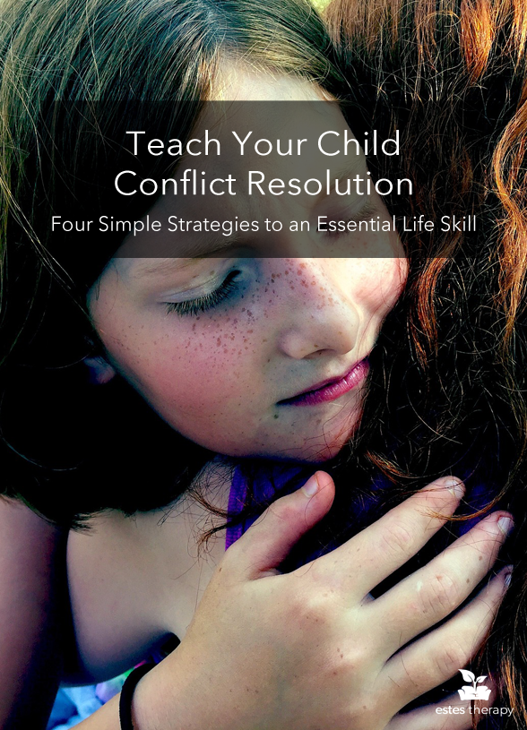 Teach Your Child Conflict Resolution: Simple Strategies to an Essential Life Skill via @EstesTherapy | Starting as early as elementary school, children find themselves navigating uncharted social waters of making friends. At the same time, they are learning to keep up with homework assignments as well as sports, physical and emotional development, and family life. These kinds of stressors, good and bad, fall alongside challenges like bullying and other kinds of conflict. So how do you teach your child conflict resolution?