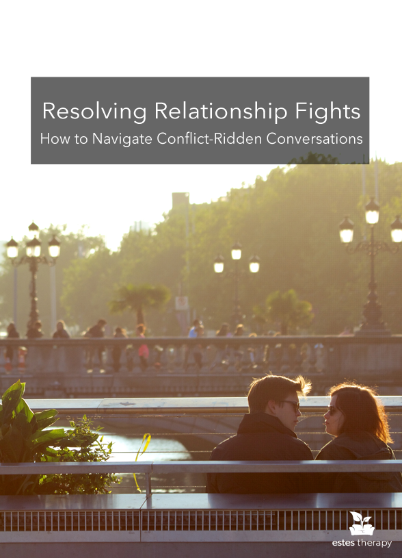 Resolving Relationship Fights via @EstesTherapy - Relationship fights are normal and nobody is perfect at handling conflict, but learning how to articulate your feelings as well as how to hear and adapt to your partner's feelings are essential to a healthy, lasting relationship. The conversation will be uncomfortable -- conflict always is -- but mindfully expressing the feelings behind the conflict reinforces the safe and healthy connection in your relationship.